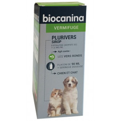 Plurivers sirop Vermifuge Chiens Chats Biocanina