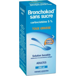 BRONCHOKOD sans sucre adultes 5% Solution buvable