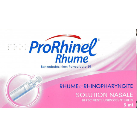 ProrRhinel rhume solution nasale boîte de 20 unidoses de 5 ml