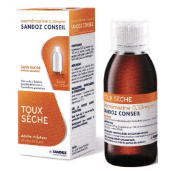 Oxomemazine 0,33 mg/ml Solution buvable sans sucre Sandoz