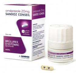 Omeprazole 20 mg gélules Sandoz conseil
