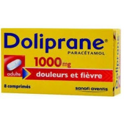 Doliprane 1000 mg 8 comprimes