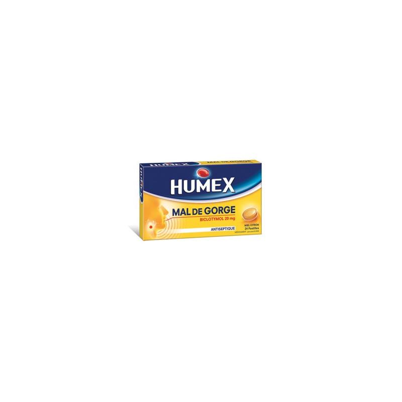 humex mal de gorge biclotymol pastilles antiseptiques miel citron. Black Bedroom Furniture Sets. Home Design Ideas