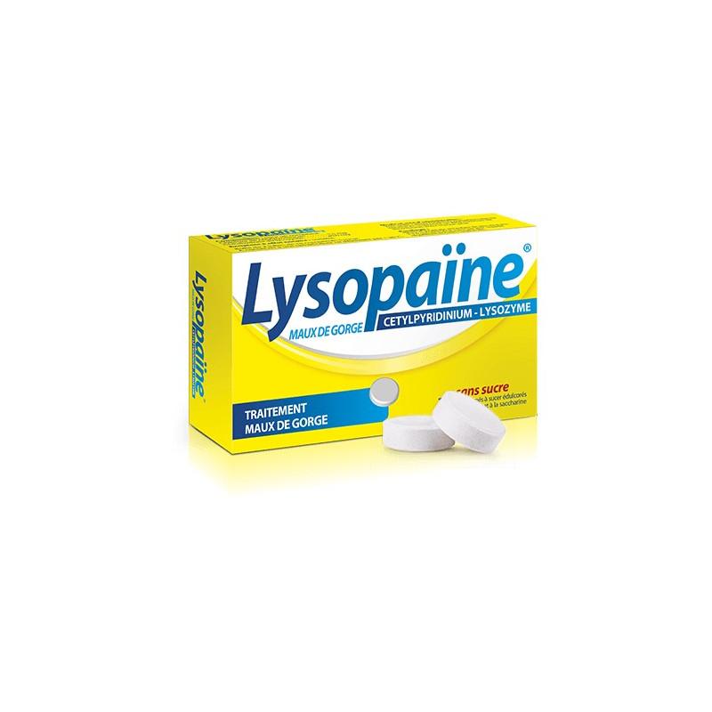 lysopaine 36 pastilles sans sucre mal de gorge partir de 6 ans. Black Bedroom Furniture Sets. Home Design Ideas