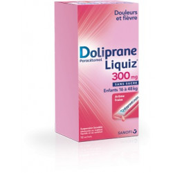 Doliprane Liquiz 300 mg Sachets Suspension buvable