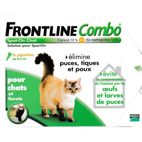 frontline combo spot on pour chat et furet contre les puces et tiques. Black Bedroom Furniture Sets. Home Design Ideas