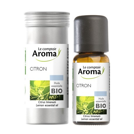 citron huile essentielle bio flacon de 10 ml le comptoir aroma. Black Bedroom Furniture Sets. Home Design Ideas