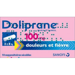 Doliprane 100 mg 10 suppositoires sécables