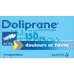 Doliprane 150 mg 10 suppositoires sécables