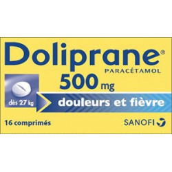 Doliprane 500mg 16 comprimes secables