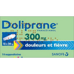 Doliprane 300 mg 10 suppositoires sécables