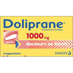 Doliprane 1000 mg  suppositoires sécables