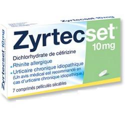 Zyrtecset 10 mg comprimés boite de 7