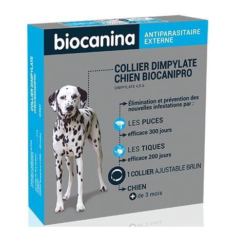 collier insecticide puces et tiques pour chien biocanipro. Black Bedroom Furniture Sets. Home Design Ideas