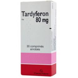 Tardyferon 80 mg 30 comprimés