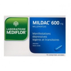 Mildac 600 mg 15 comprimés enrobés