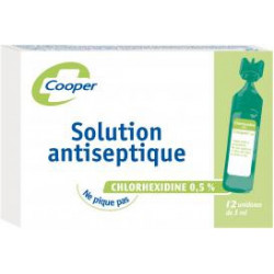Solution antiseptique chlorhexidine unidoses Cooper