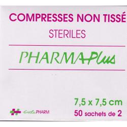Compresses stériles Non Tissé 7.5X 7.5  sachets