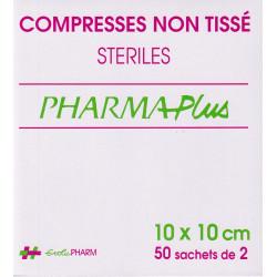 Compresses stériles Non Tissé 10 X10  sachets  Pharmaplus