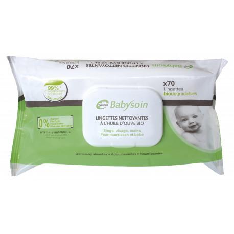 Babysoin 72 lingettes nettoyantes bébé