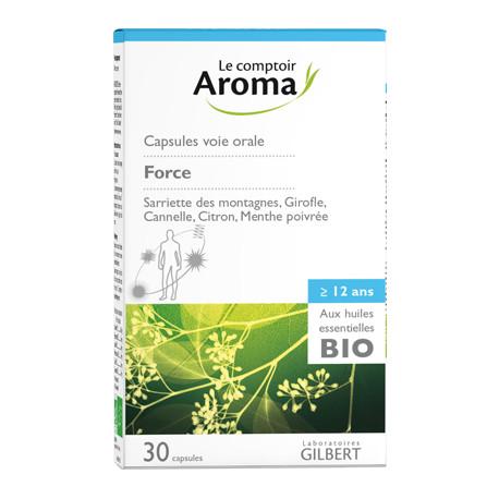 Capsules Force aux huiles essentielles bio Comptoir Aroma