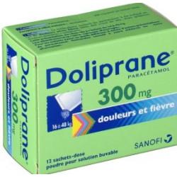 Doliprane 300mg 12 sachets-dose