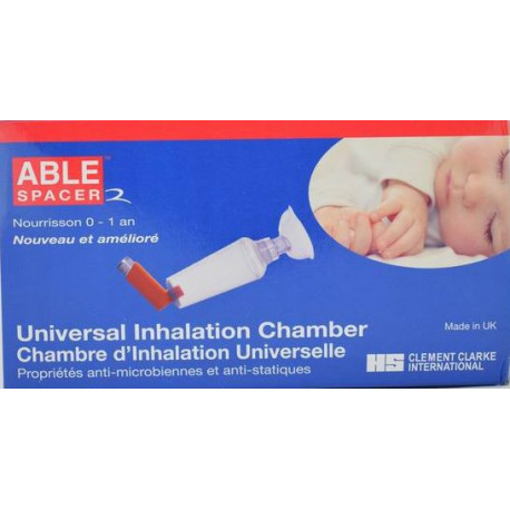 Able Spacer 2 chambre d'inhalation universelle nourrisson