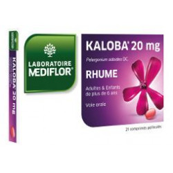 Kaloba 20mg Rhume 21 comprimés Mediflor