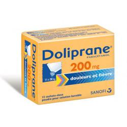 Doliprane 200mg 12 sachets-dose pour solution buvable