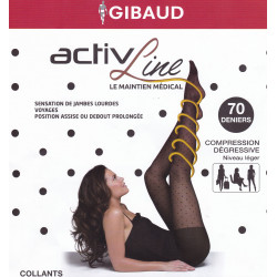 Activline Collants de maintien Plumetis Gibaud