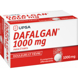Dafalgan 1g comprimés effervescents boite de 8