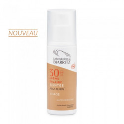 Crème solaire VisageTeintée  certifiée Bio 50 ml Laboratoires de Biarritz