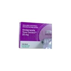 Omeprazole Teva 20 mg  7 comprimés