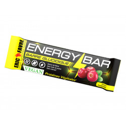 Energy Bar Vegan cacahuète ou cranberry Eric Favre