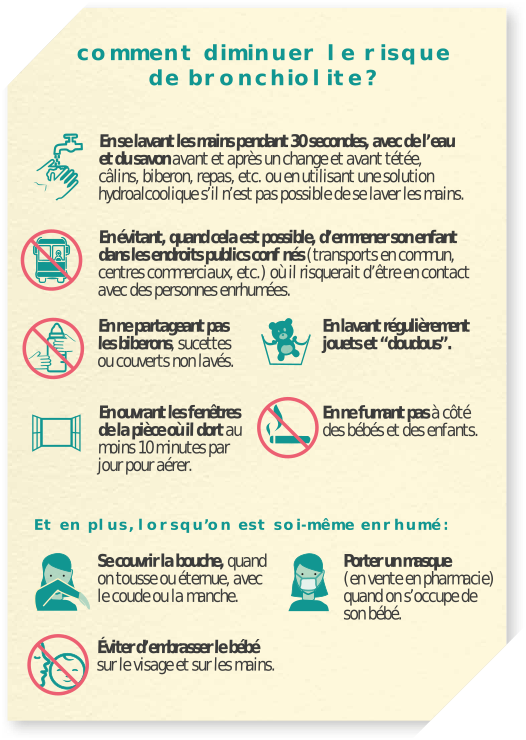 Conseils contre la bronchiolite