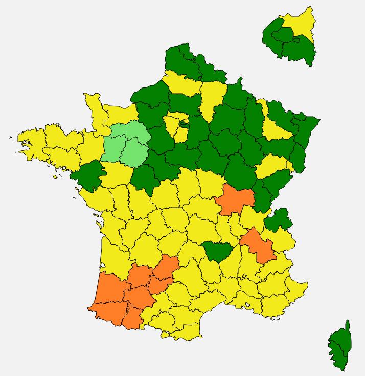 Carte du RNSA au printemps 2019